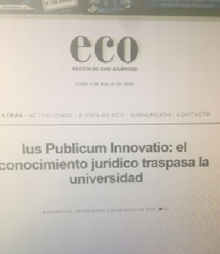 Revista Do Eixo Atlántico Publica Una Noticia Sobre Ius Publicum Innovatio
