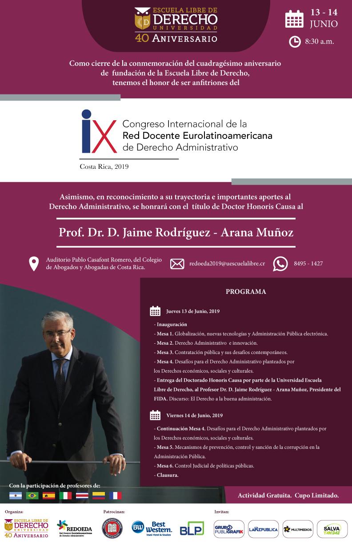IX Congreso Internacional De La Red Docente Eurolatinoamericana De Derecho Administrativo