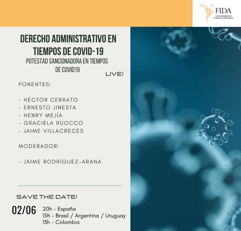 Jaime Rodríguez-Arana, Presidente De Ius Publicum Innovatio, Modera El 02 De Junio El Encuentro Digital Sobre Derecho Administrativo En Tiempos Del Covid Organizado Por FIDA