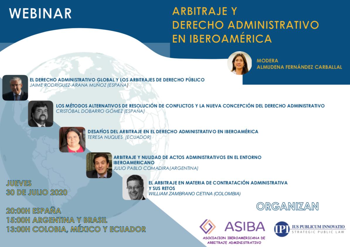 Webinar Arbitraje Y Derecho Administrativo En Iberoamérica (30/07/2020 – 20:00h)